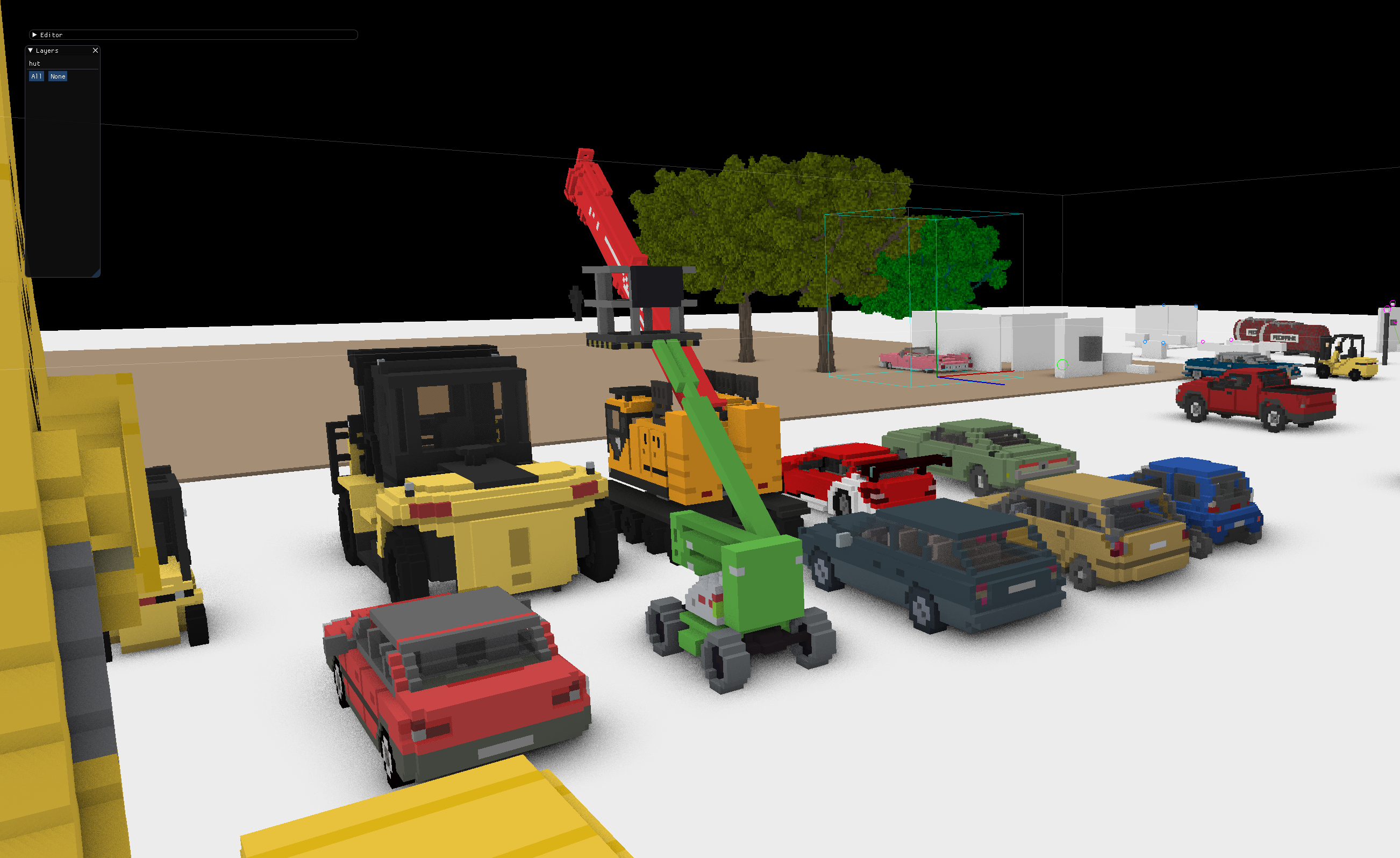Vehicles in editor